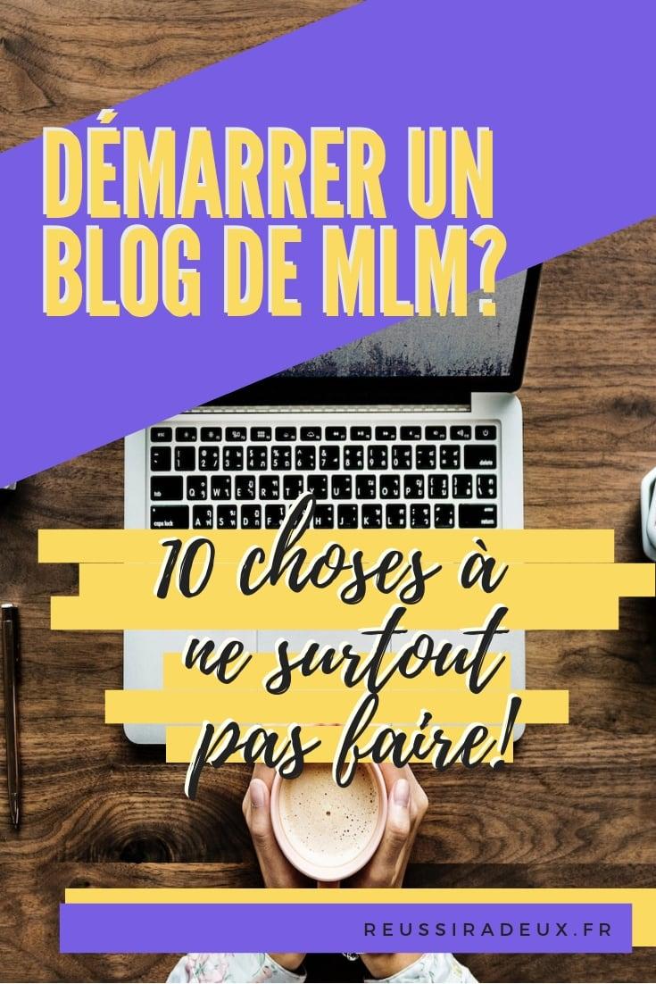 démarrer un blog de mlm