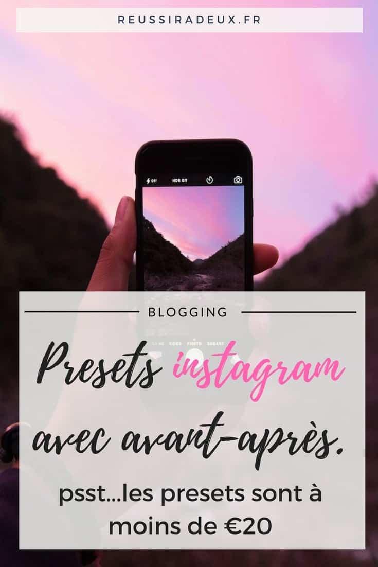 Les retouches de mes photos instagram avec avant-après