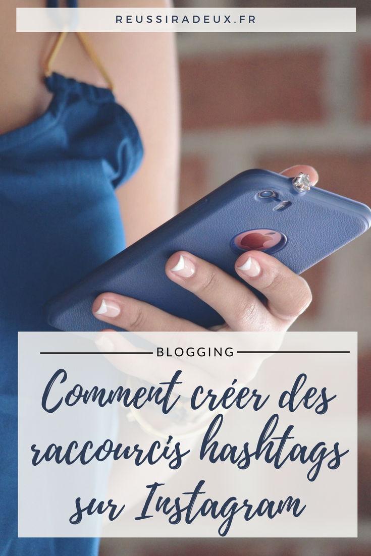 raccourcis hashtags